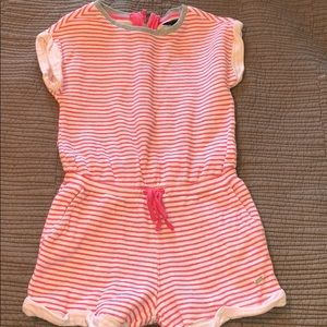 Pink and White Romper